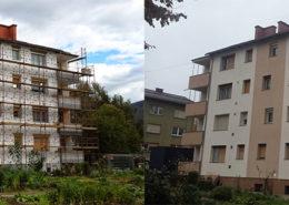 Fasade Vezjak prej in potem